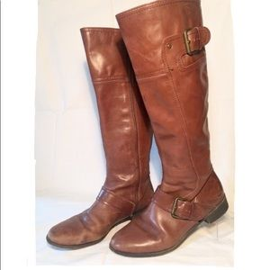 Nine West Vintage America Leather Riding Boots